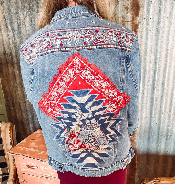 The Stockyard - Embroidered Jean Jacket