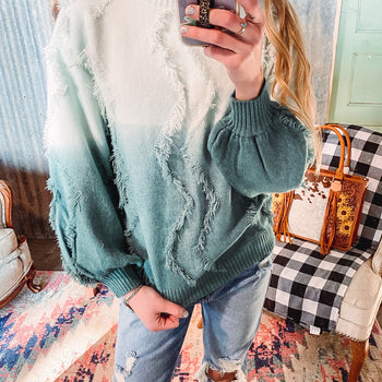 Frosted Fringe Sweater