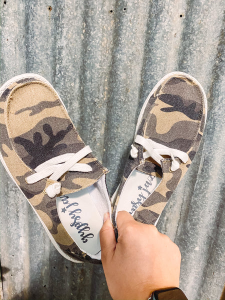 Wide Open Spaces Slip On's - Camo