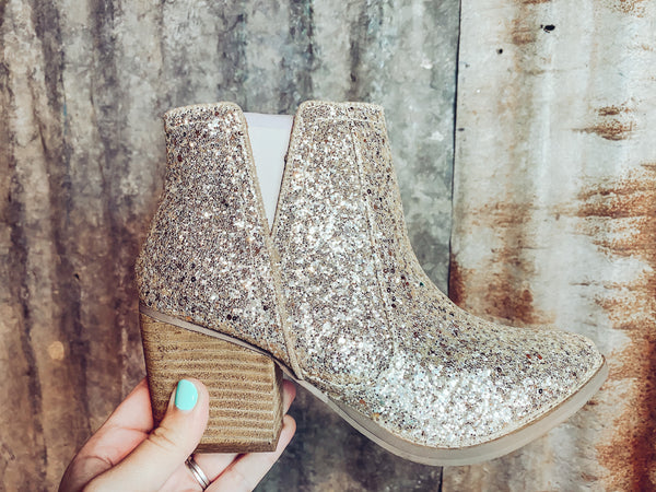 Dolly Glitter Booties - Gold