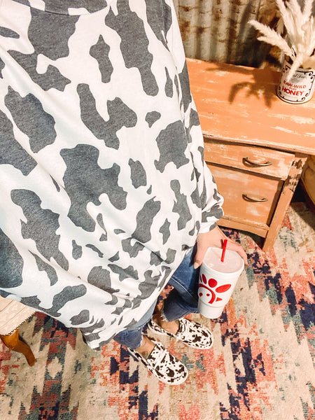Chicken Nuggs & Sweet Tea - Cow Print Sweater
