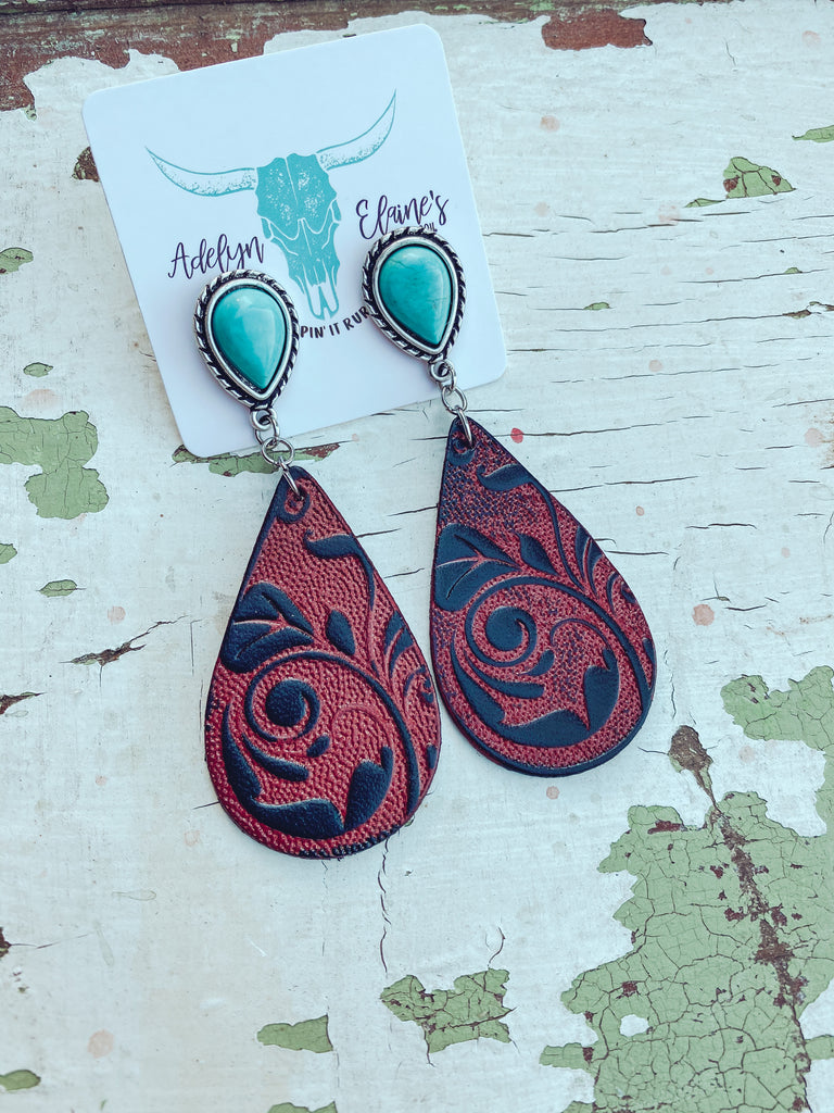 El Paso - Tooled Teardrop Earrings