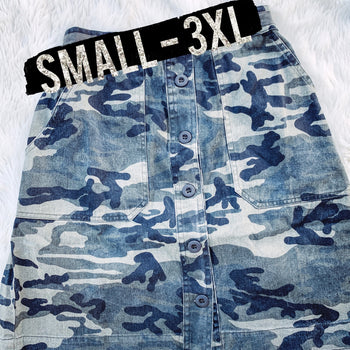 Thunder Rolls - Camo Mini Skirt 1 -2XL