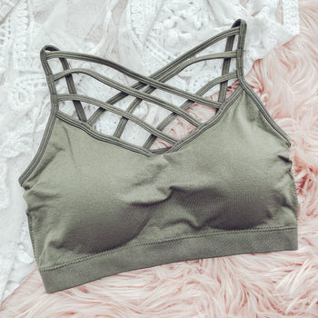 Light Olive - Criss Cross Bralette
