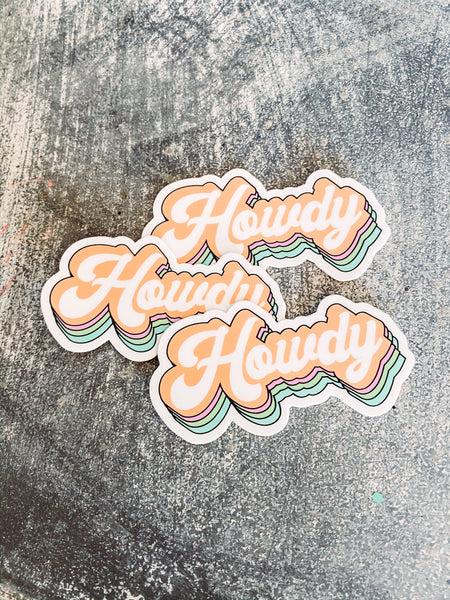Retro Howdy Sticker