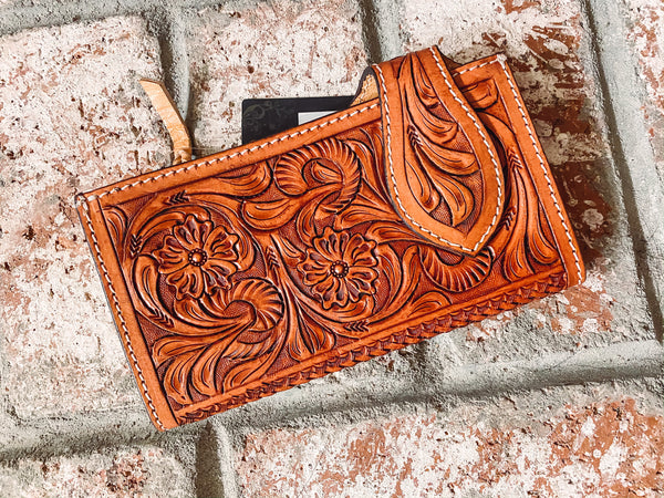 Dolly - Tooled Leather Wallet