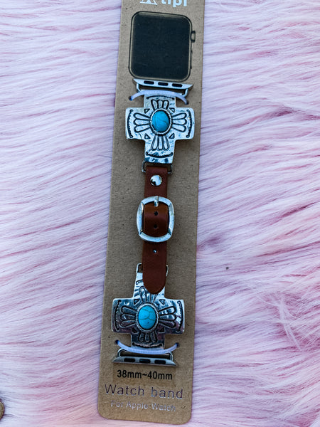 Western Cross - Turquoise Apple Watch Band