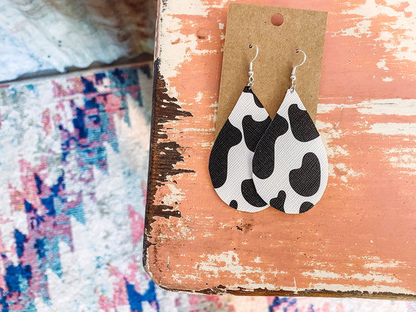 Miss. Fancy - Cow Print Earrings