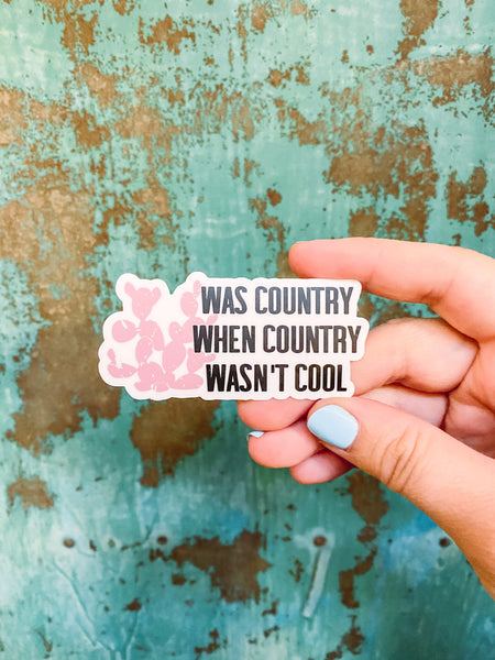 Country Wasn't Cool - Sticker