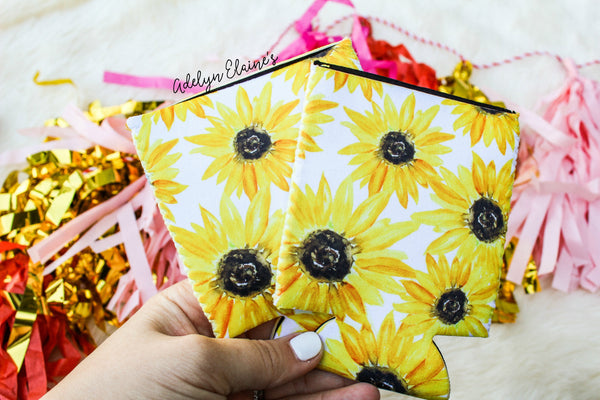 Sunflower Print - Can Coolers