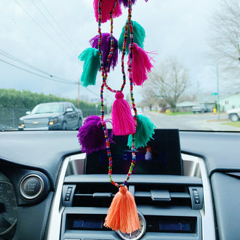 Fiesta Tassel Car Necklace