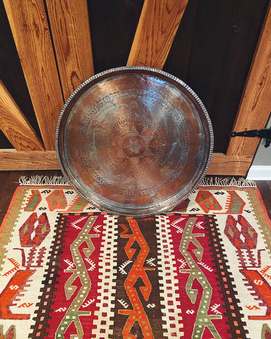 Turkish Silver & Copper-Plated Tray