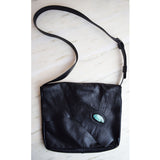 Breezy Mountain Leather Purse - Black with Turquoise