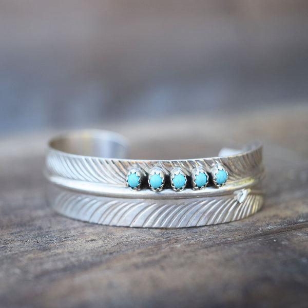 Bracelet - Turquoise Feather