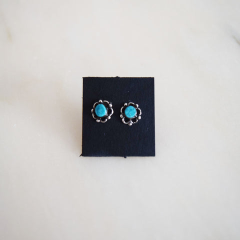 Small Earrings - Turquoise Circles