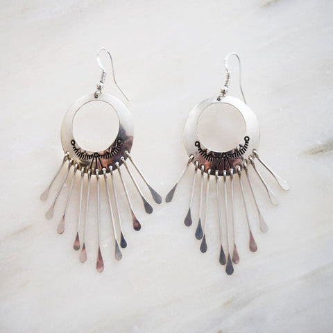 Earrings - Silver Moon