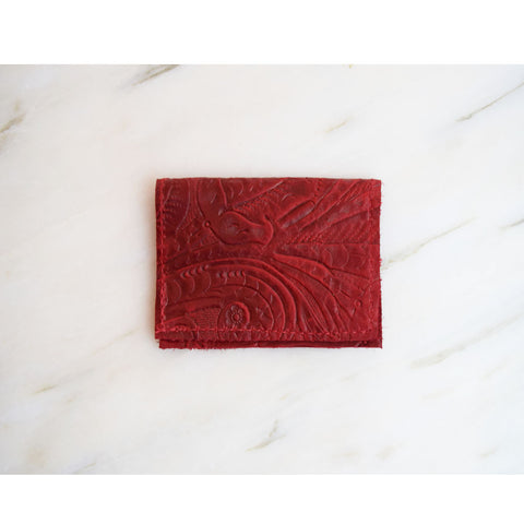 Card Holder - Red Leather