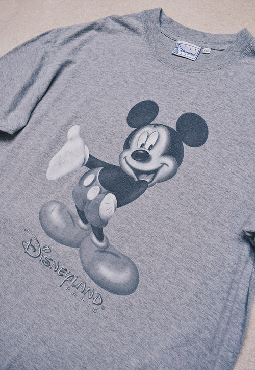 Vintage Disney Grey Mickey Mouse Print T Shirt