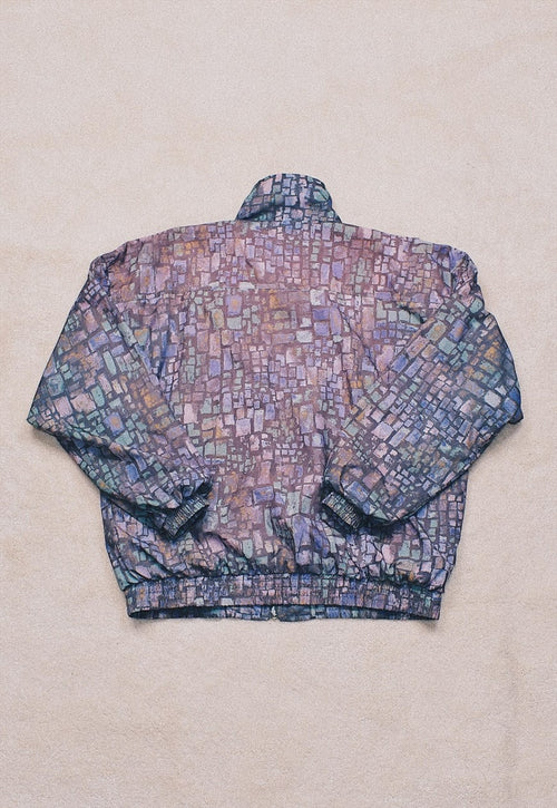 Vintage Purple Pastel Funky Pattern Jacket
