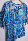 Ladies Vintage 80s Movie Print Button Top Blouse