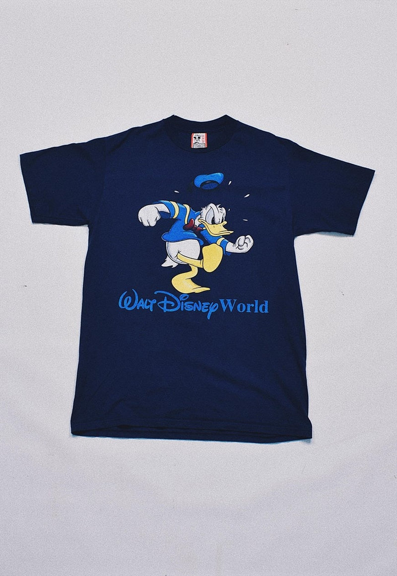 Vintage Disney Donald Duck Navy Print T Shirt