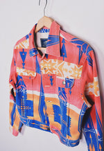 Ladies Vintage 90s Aztec Funky Denim Jacket