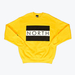 NORTH FLAG BOX LOGO YELLOW SWEATSHIRT UNISEX