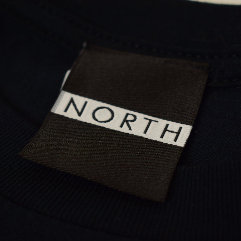 NORTH SLOGAN BLACK UNISEX T SHIRT