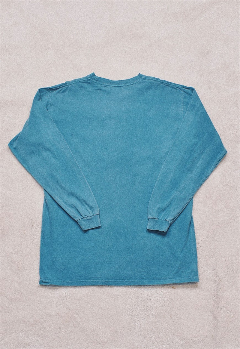 Vintage USA Green/Blue Print Spell Out Top