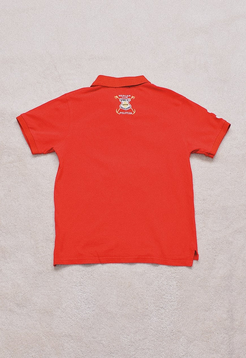Ladies Vintage Polo Ralph Lauren Red Polo T Shirt