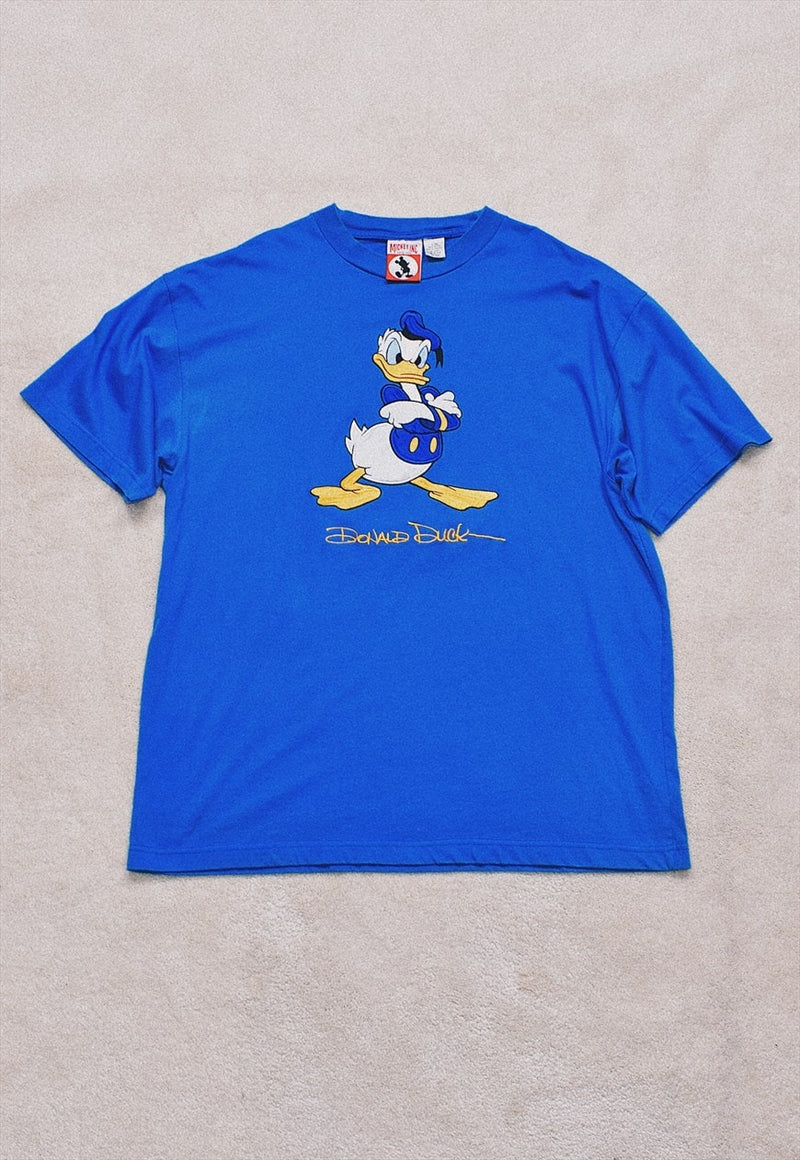 Vintage 90s Disney Donald Duck Embroidered T Shirt