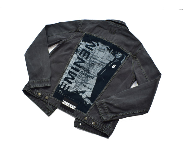 Reworked Eminem Black Denim Jacket