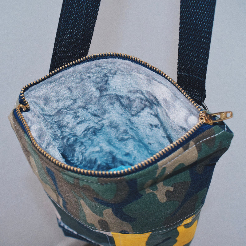 Reworked Hand Made Camo Patchwork Bag 3 of 3