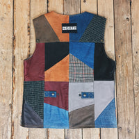 Reworked Patchwork Vest Gilet
