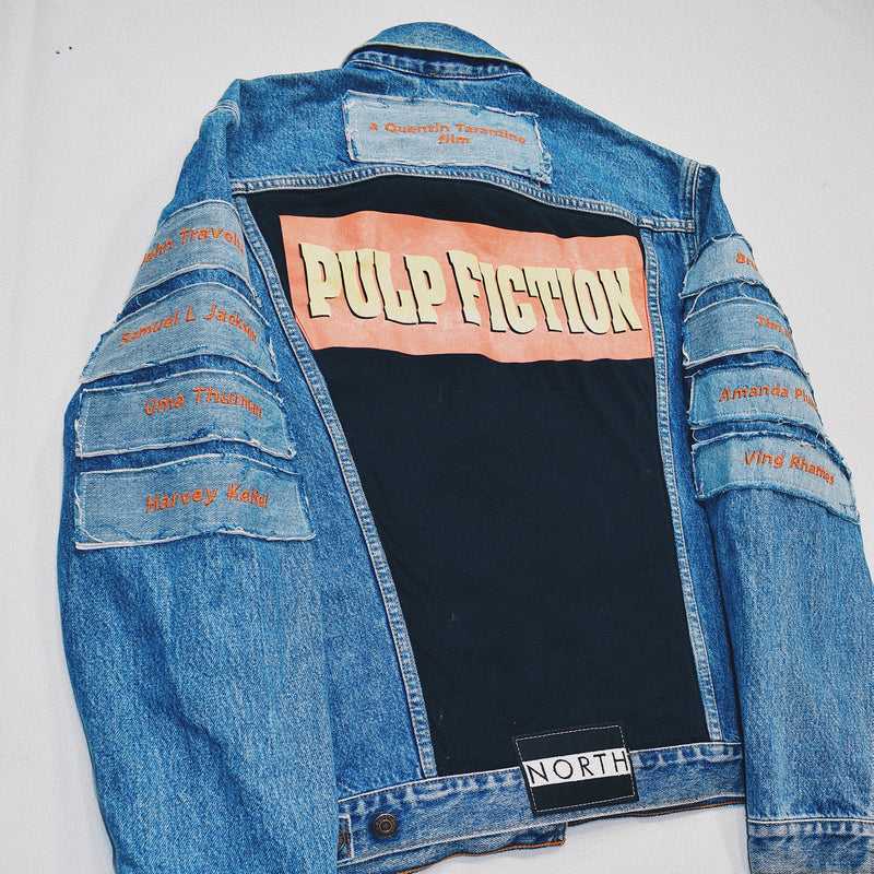 Reworked Pulp Fiction Blue Denim Jacket