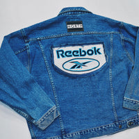 Reworked Reebok Patch Denim Jacket