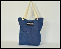 Handmade Reworked Denim Ariel The Little Mermaid Tote Bucket Bag