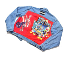 Reworked Disney WDW Denim Jacket