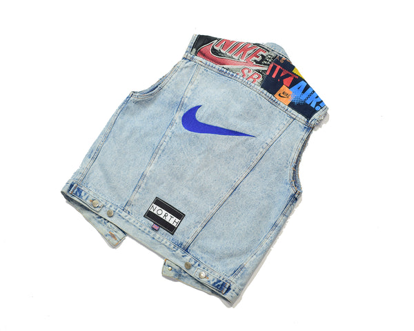 Nike Patch Sleeveless Denim Jacket