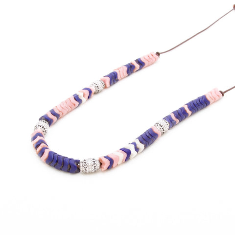 AFRICAN SNAKE BEAD NECKLACE WITH DIAMONDS