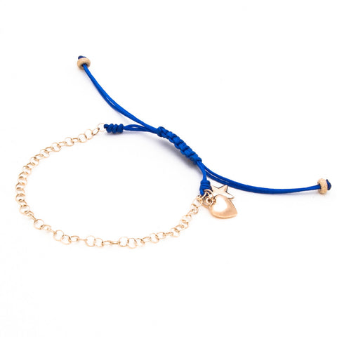 HEART & STAR CHAIN LUCK BRACELET