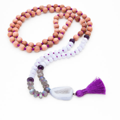 PURPLE LOTUS MALA