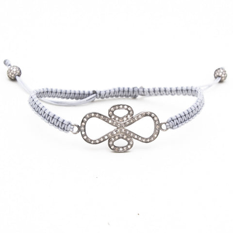 PAVE DIAMOND ART DECO MACRAME BRACELET