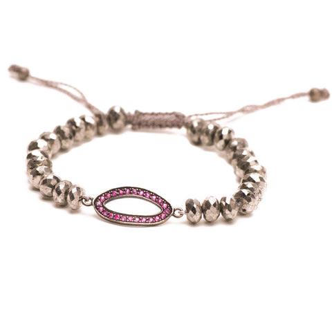 PYRITE & RUBY LUCK BRACELET