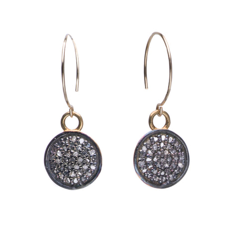 BLACK PAVE DIAMOND EARRINGS