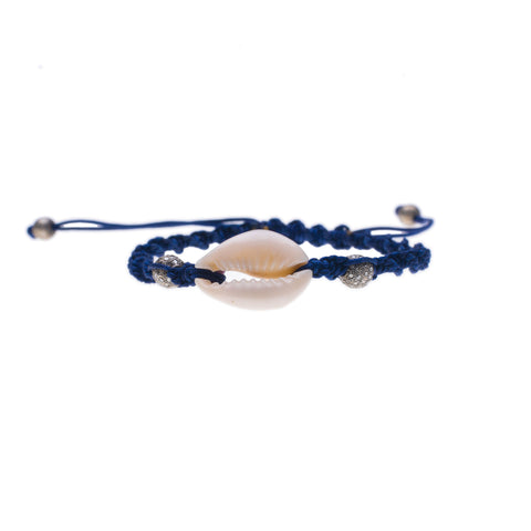 COWRIE SHELL & DIAMOND FRIENDSHIP BRACELET