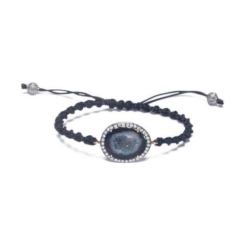 GEODE & DIAMOND HALO FRIENDSHIP BRACELET