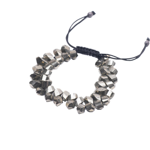 TWISTED PYRITE LUCK BRACELET