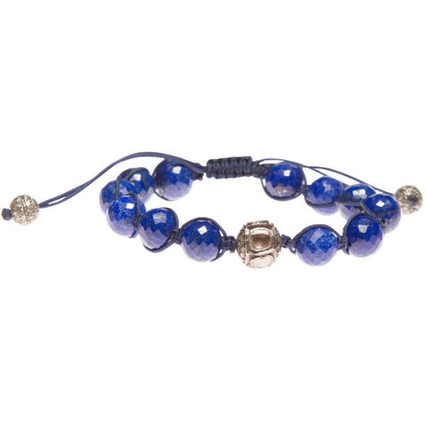 LAPIS LAZULI & ROSE CUT DIAMOND FRIENDSHIP BRACELET