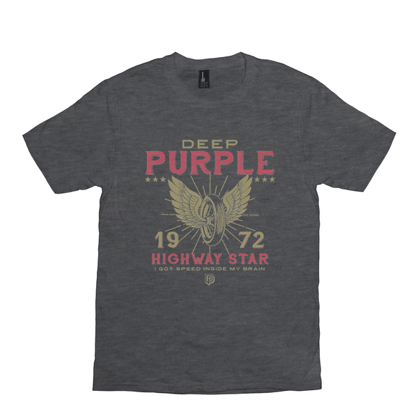 Deep Purple '72 Highway Star Charcoal Black Tee
